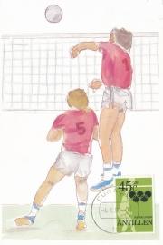 ®® 1980 NVPH 665 NED. ANTILLEN Volleybal