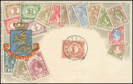© 1907 NETHERLANDS Numeral - Philately card