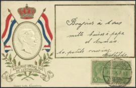 © 1906 LUXEMBOURG Grand Duke Adolphe I