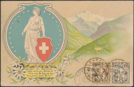 © 1901 SWITZERLAND Stamp White cross