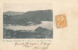 © 1906 - GRENADA Tallship in harbor