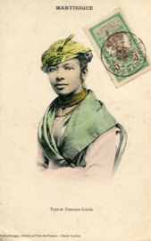 © 1908 MARTINIQUE Creole woman costume