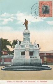 © 1913 - EL SALVADOR Statue of de Morazán