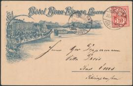 © 1891 SWITZERLAND Flag White cross