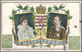 © 1911 LUXEMBOURG Coat of arms