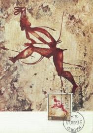 1967 SPAIN - Petroglyphs warrior