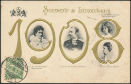 © 1908 LUXEMBOURG Coat of arms