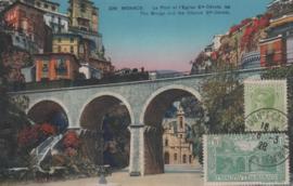 © 1928 - MONACO Bridge and church St. Dévote