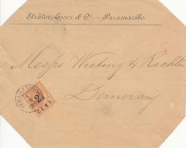 ¤¤¤ 1892 SURINAME Hulpuitgifte