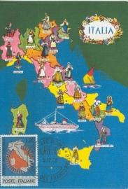 1965 ITALY - Map