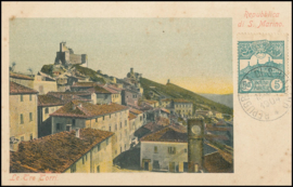 © 1904 - SAN ******** MARINO Three towers