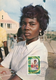 ®® 1981 NVPH 684 NEDERL. ANTILLEN Jonge vrouw