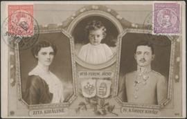 © 1916 - HUNGARY King Carol and Queen Zita