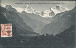 © 1908 SWITZERLAND Alps Interlaken