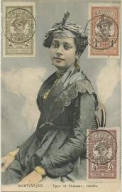 © 1922 MARTINIQUE Creole woman costume