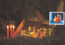 1994 SWITZERLAND Christmas candles