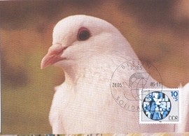 1985 GERMANY DDR - Dove of peace