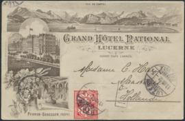 © 1892 SWITZERLAND Flag White cross