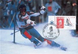 1992 FRANCE - Albertville Slalom Skiing