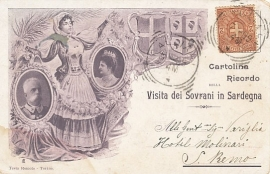 © 1899 - ITALY - House of Savoy Coat of arms