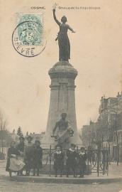 © 1906 - FRANCE Statue of the Republic - Cosne