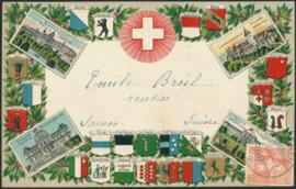 © 1908 SWITZERLAND White cross