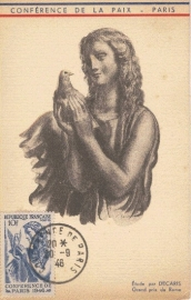 1946 FRANCE - Dove of peace