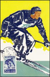 © 1938 - FINLAND Skiing Slalom