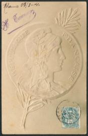 © 1904 - FRANCE Phrygian cap Marianne