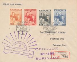¤¤¤ 1943 SURINAME Koninklijke familie
