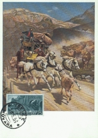 1956 ITALY - Mail Stagecoach