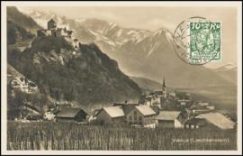 © 1929 LIECHTENSTEIN Castle Vaduz Courtyard