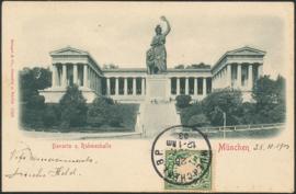 © 1903 - BAVARIA Statue Bavaria Munich with lion