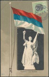 © 1908 - SERBIA - Heraldic shield Eagle