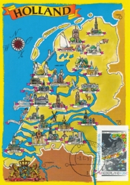 ® 1990 CATA 1447c Landkaart Nederland