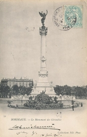 © 1905 - FRANCE Bordeaux Monument Girondins