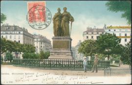 © 1908 SWITZERLAND Helvetia Monument Genève