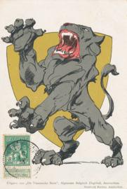 © 1915 - BELGIUM Heraldic lion
