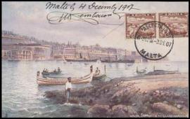 © 1907 - MALTA Great harbor Valletta