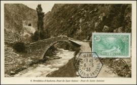 © 1933 - ANDORRA Saint Antoine Bridge