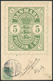 © 1904 - DENMARK Coat of arms