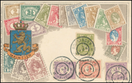 © 1905 NETHERLANDS Numeral - Philately card