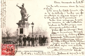 © 1902 - FRANCE Statue of July 14th Agen
