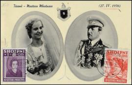 © 1938 - ALBANIA Queen Geraldine