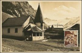 © 1932 LIECHTENSTEIN Church Steg