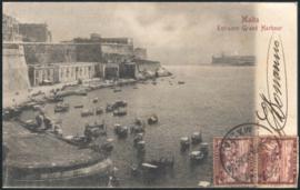 © 1902 - MALTA Great harbor Valletta