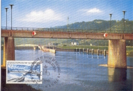1966 LUXEMBOURG Canalisation and bridge