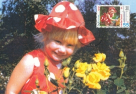 ® 1990 - CATA 1444 Kind met bloemen