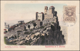 © 1911 - SAN ******** MARINO Three towers