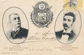 © 1906 - EL SALVADOR President Escalon